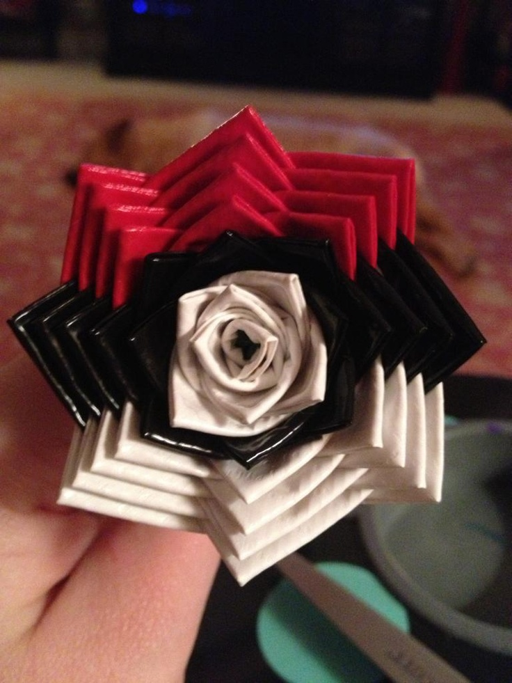 Pokeball ducked tape flower