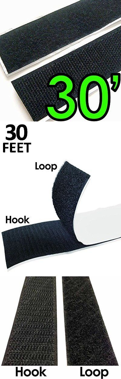 Hook and Loop Tape 180927: 2 Adhesive Backed Hook And Loop Sticky Back Tape Fabric Fastener 30 Feet Closures -> BUY IT NOW ONLY: $30.1 on eBay!