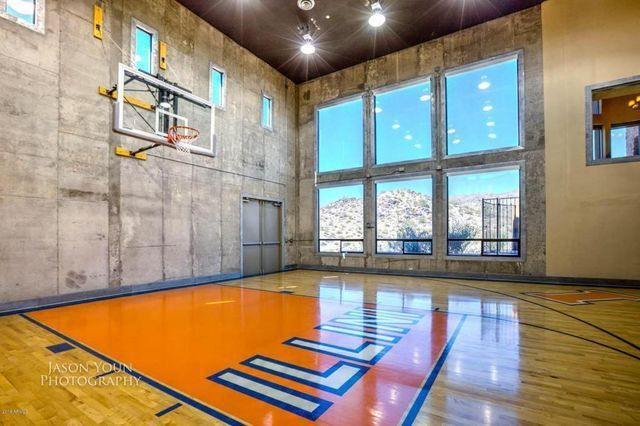 Live Like A Baller In These 7 Homes With Indoor Basketball Courts Indoor Basketball Court Basketball Court Flooring Home Basketball Court