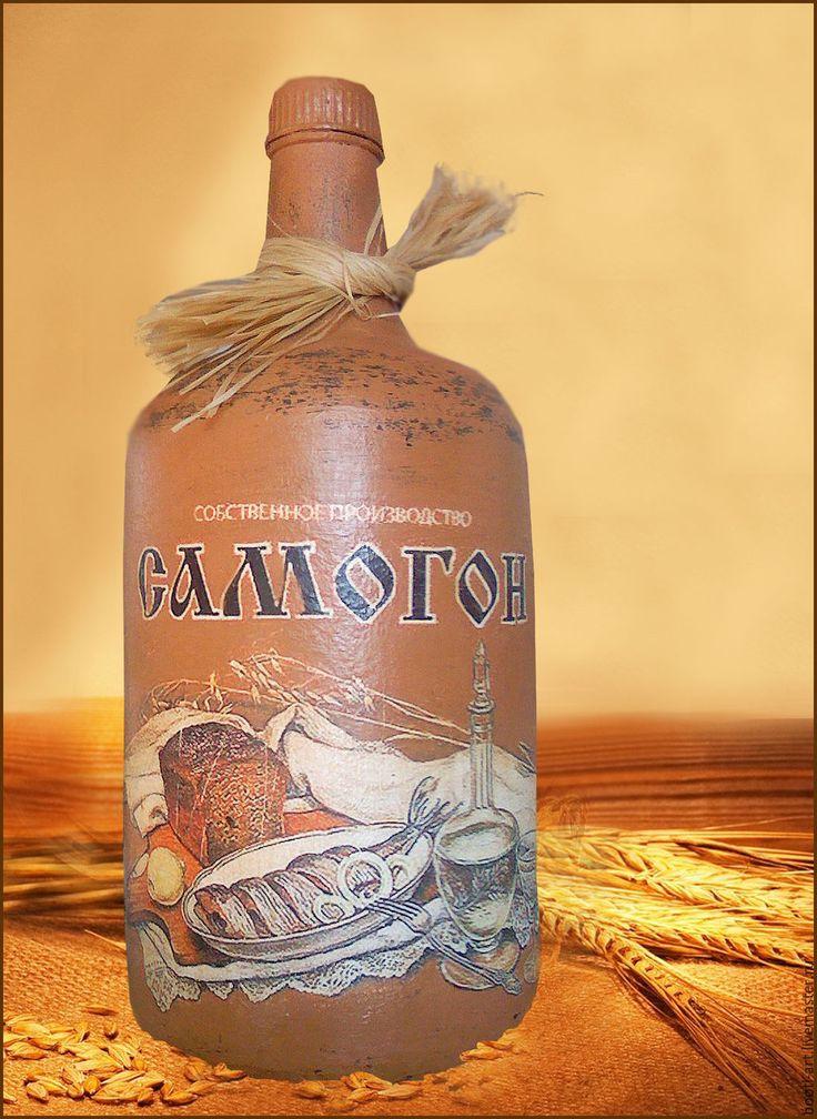 """Купить Бутылка """"Самогон"""" Подарок на 23 февраля - подарок на день рождения, подарок мужчине"""