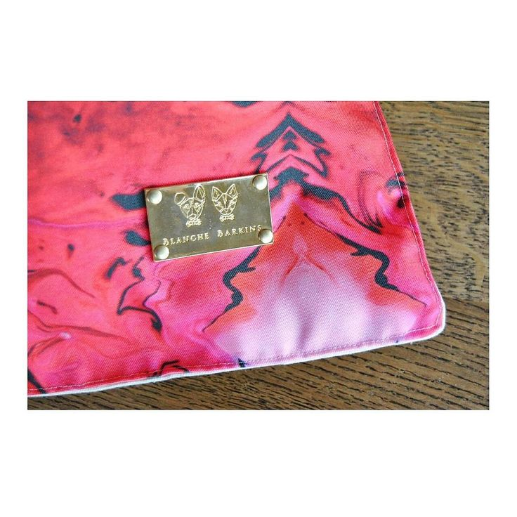Blanche Barkins pet bed eco fabric gold tag design branding