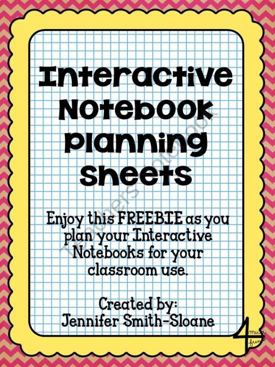 Interactive Notebook Planning Sheets FREEBIE