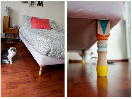 Add Colorful Legs to Your Bed Morning by Foley