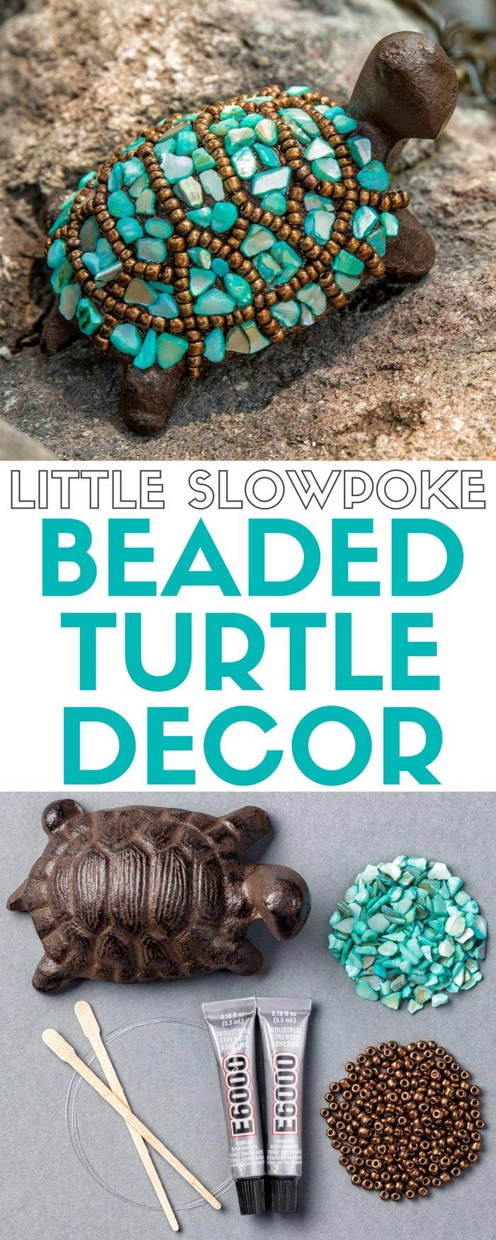 Little Slowpoke   Apostrophe S Craft Kit   Home Decor   Garden Decor   Beaded Turtle