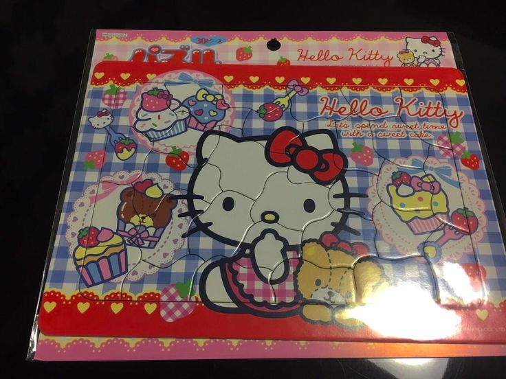 Sanrio Hello Kitty Pazzle 30pieces Very Cute Kawaii Background Color Blue | eBay
