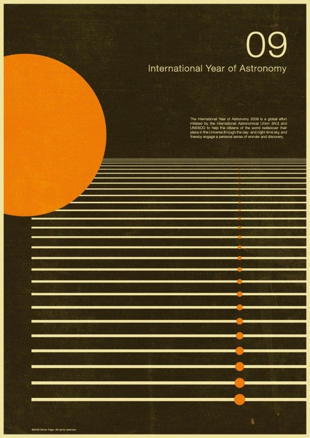 International Year of Astronomy Posters By Simon C Page