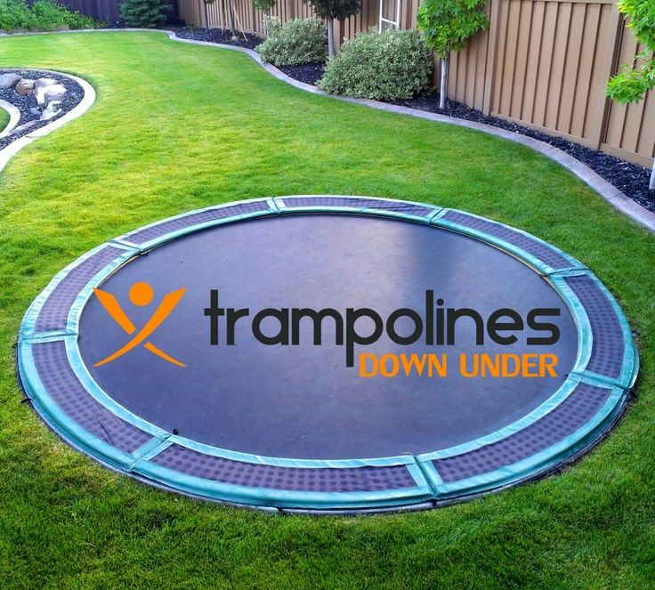 In ground trampoline fun fun fun pinterest for How to put a trampoline in the ground