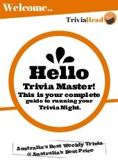 Trivia Master Sheet