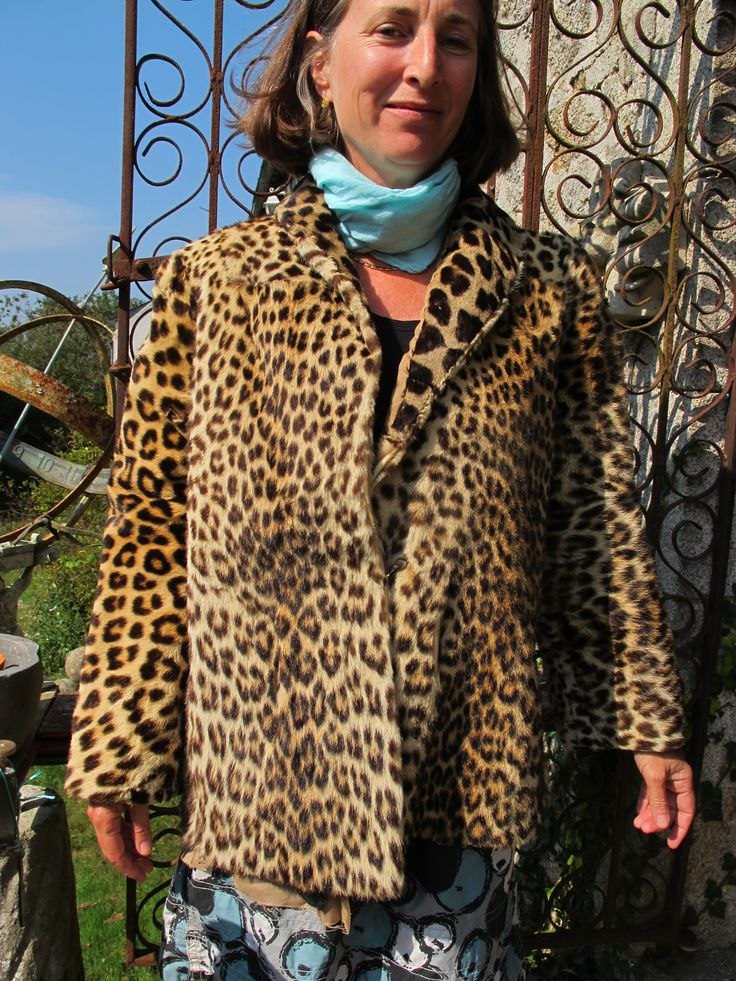 Same day bootsale--Real Leopard coat--don't know why the pic is sideways