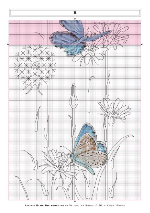 Gallery.ru / Фото #5 - Ajisai Designs - Adonis Blue Butterflies - tymannost