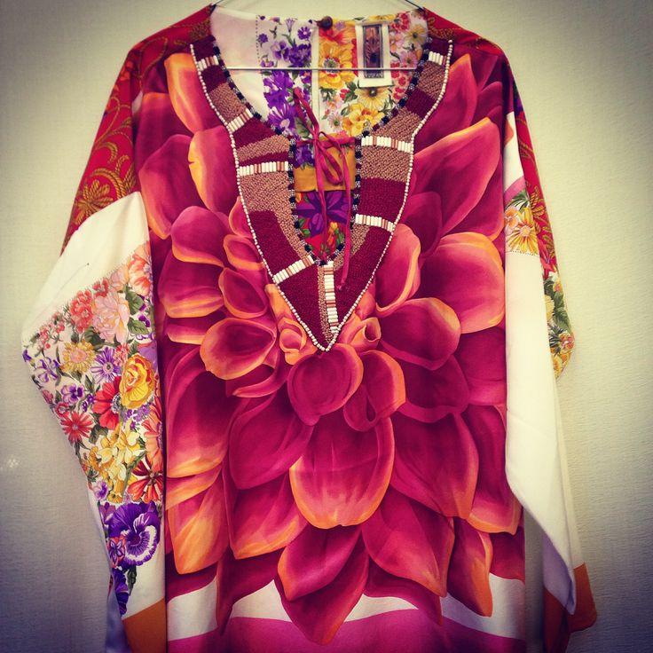 "tunica ""baggy"" IBRIGU foulard vintage + ricamo french note  ibrigu@libero.it facebook: IBRIGU instagram: IBRIGU"