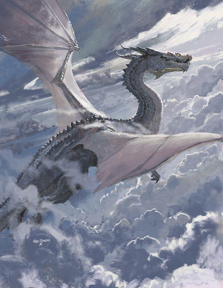 ArtStation - Painterly dragon warm up no.3, Alejandro Olmedo