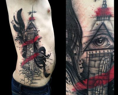 light house tattoo done by santa perpetua at black sails tattoo brighton uk