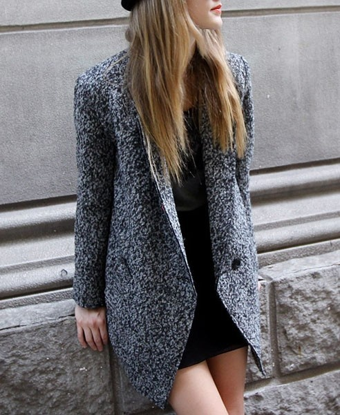 this tweed coat is great to keep you warm and looking stylish for your outdoor photo session