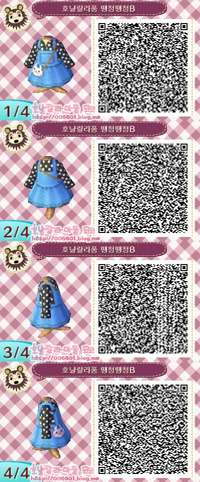 Animal crossing new leaf cute dress qr code
