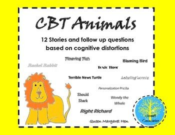 Cognitive Behavioral Therapy is an evidence based practice that can be used to help children with all types of mental health problems or children that have behavioral issues.  This activity takes the idea of cognitive distortions and makes it easier to use for younger children through engaging stories.