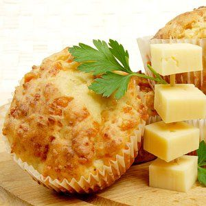 Muffins cuatro quesos para la merienda de los niños - 4 Cheese Muffins (spanish recipe)