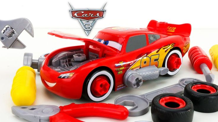 New Disney Cars 3 Race Ready Lightning McQueen Tool Set Take Apart Playset Toys. Watch for more Cars 3 videos coming soon with Mater Doc Hudson Miss Fritter Jackson Storm Cruz Ramirez and more!  More Fun Videos!  Disney Cars 3 Mack Hauler Lightning McQueen Jackson Storm Mud Track and Car Wash Fun  https://youtu.be/ehmQ2Nk_P-g  Dreamworks Movie HOME 2015 Play Doh Surprise Egg with FUN McDonald's Happy Meal Toys  https://youtu.be/6-09nI2mnoI  GRAVE DIGGER MONSTER JAM TRUCK GIANT PLAY DOH…
