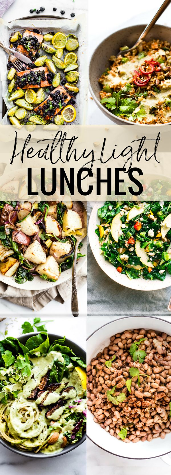 Healthy light lunch recipes with seasonal vegetables, fresh fish, and healthy greens means these recipes are super quick and easy to make, too. all gluten-free with a few paleo/vegetarian options too! www.cottercrunch.com