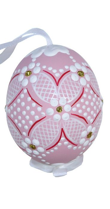 Made in Slovakia ~ hand painted chicken Easter egg