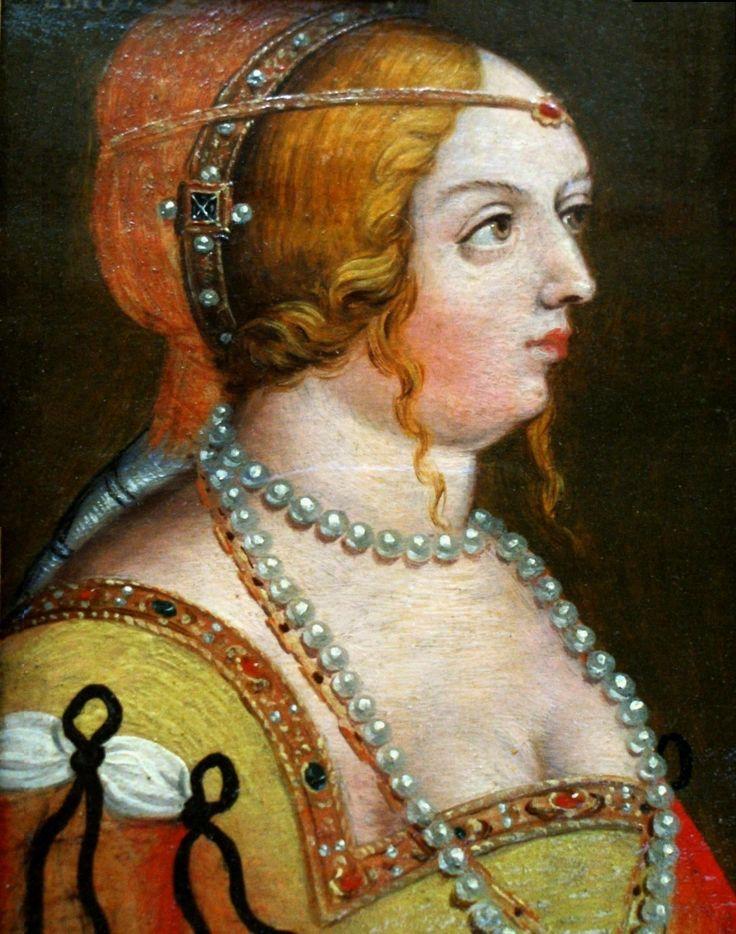 Portrait of Bona Sforza by Antoni Boys after Hans von Kulmbach, 1579-1587, original ca. 1518 (PD-art/old), Kunsthistorisches Museum