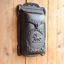 Cowboy-Cast Iron Mailbox Metal Mail Box Wall Mount Lockable(China)