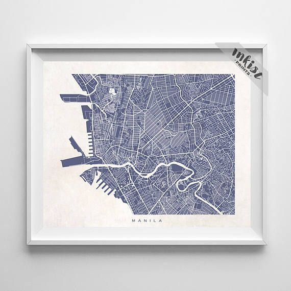 Manila Map, Philippine Print, Manila Poster, Filipino Art, Home Goods, Bedroom Wall Art, Anniversary Gift, Custom Gifts, Christmas Gift, Wall Art. PRICES FROM $9.95. CLICK PHOTO FOR DETAILS. #inkistprints #map #streetmap #giftforher #homedecor #nursery #wallart #walldecor #poster #print #christmas #christmasgift #weddinggift #nurserydecor #mothersdaygift #fathersdaygift #babygift #valentinesdaygift #dorm #decor #livingroom #bedroom