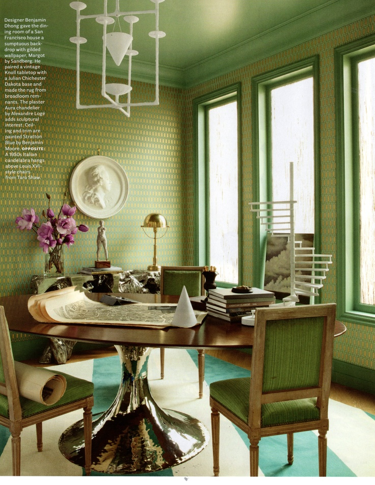 House Beautiful | The Dakota Table. Julian ChichesterGreen ...