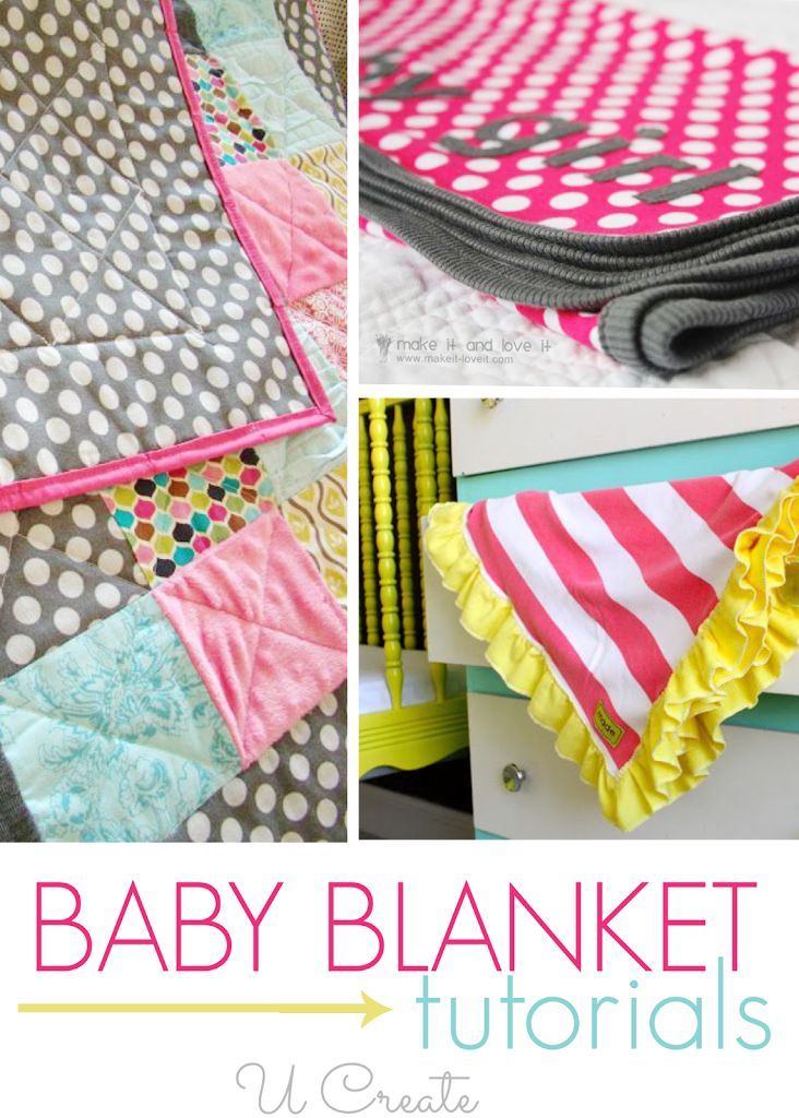 Baby Blanket Tutorials - makes the perfect baby shower gift, too!