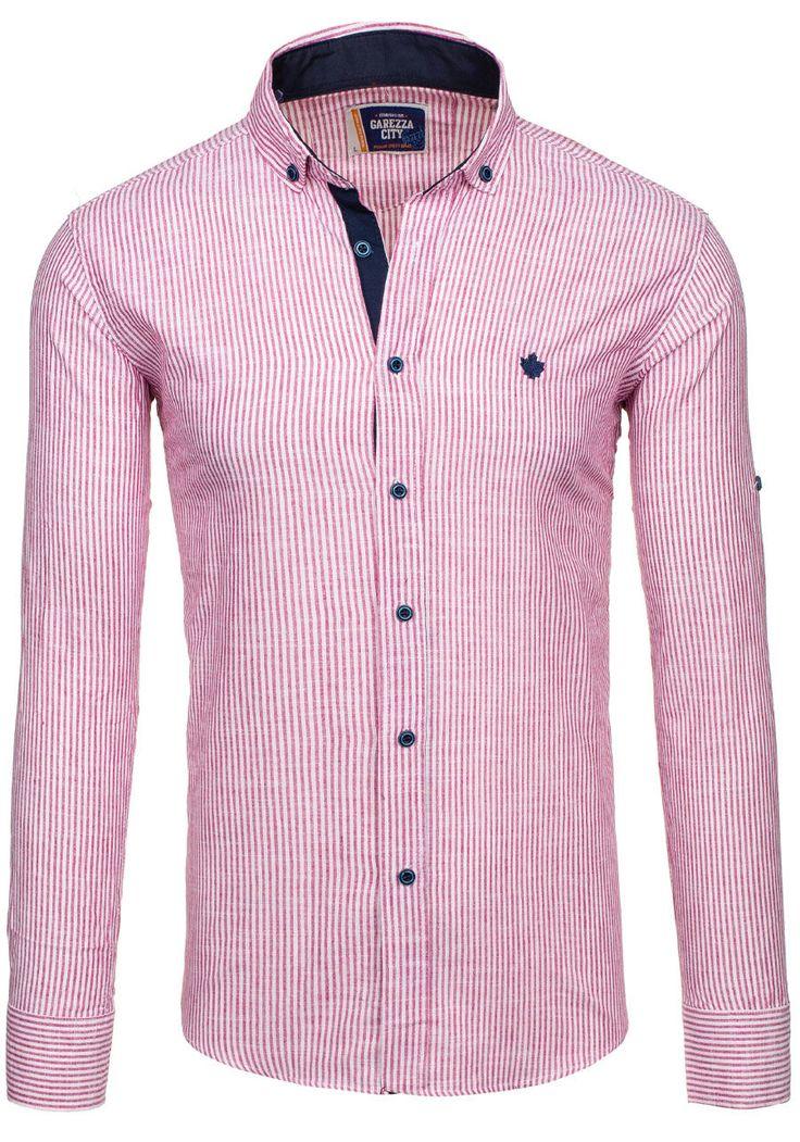 Pánská košile GAREZZA CITY 02 červená ČERVENÁ | Pánská móda \ Pánské košile \ Košile dlouhý rukáv Pánská móda \ Pánské košile \ proužkované | Bolf - Internetový Obchod s Oblečením | Oděv | Oblečení | Kabáty | Bundy