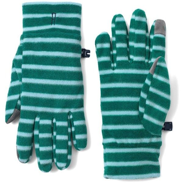 Lands' End Women's 100 Fleece Pattern EZ Touch Gloves (685 RUB) ❤ liked on Polyvore featuring accessories, gloves, green, lands' end, fleece gloves, lands end gloves and green gloves