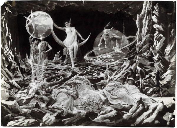 Le Voyage De La Lune George Melies Old Movies Vintage Photos