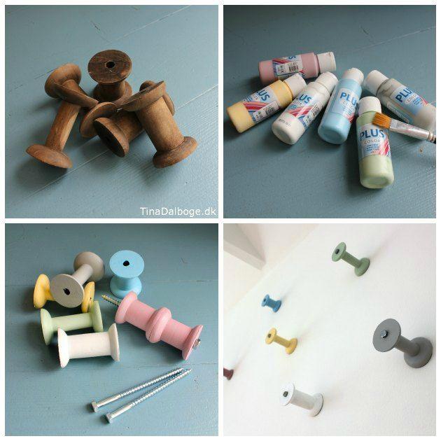 knage du selv kan lave ud af træspoler fra Kreahobshop.dk - en ide fra Tina Dalbøges kreative blog
