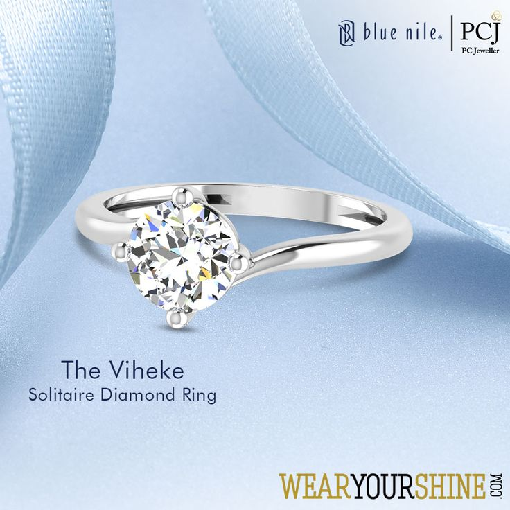 """Your ultimate fashion-chaser this season, """"The Viheke Solitaire Ring""""     #WearYourShine #PCJeweller #Love #Fashion #Jewellery #Diamonds #Rings #Wedding #Jewelry #Engagement #Gold"""
