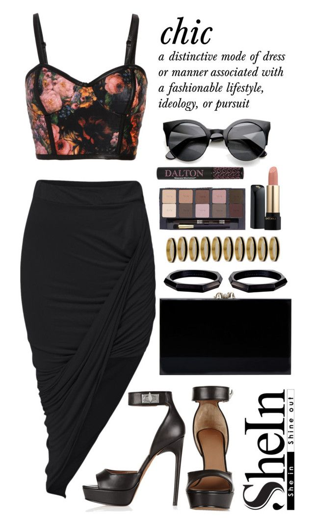 """Skirt"" by scarlett-morwenna ❤ liked on Polyvore featuring Givenchy, Charlotte Olympia, Monique Péan, Inez & Vinoodh, tarte, Lancôme, chic, Beauty, floralprint and shein"