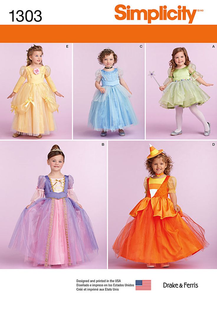 Girl's PRINCESS, FAIRY, WITCH, Costume Pattern by Simplicity 1303 * Girls Size 1/2-2 by TLCsTreasures on Etsy https://www.etsy.com/shop/TLCsTreasures?ref=hdr_shop_menu