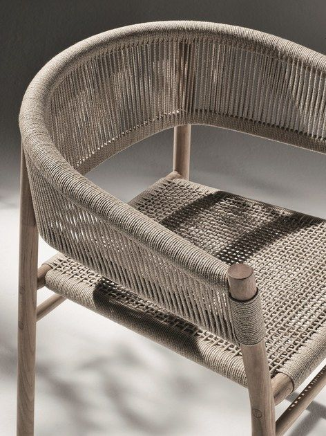 Stackable rope garden chair KILT by Ethimo