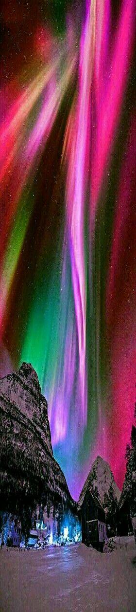 Nature's Wonders - Northern Lights night sky.