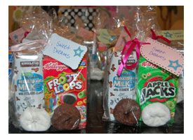 Breakast Bundles - Perfect ending for a sleep-over! I also use this strategy when I am up late, and I don't want to wake up when the girls do. They think it's a special treat to have their breakfast waiting for them in the morning. :) On those days when I work the night/morning before and hubs has to go to work early, I may set out a DVD also, and buy myself an extra hour.