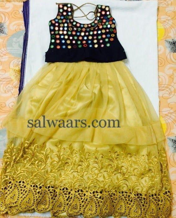 Lace Lehenga Mirror Work Blouse | Indian Dresses