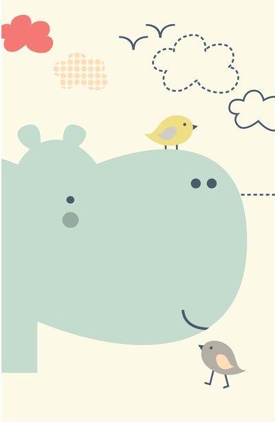 Hippy Hippo Art Print                                                                                                                                                     Plus