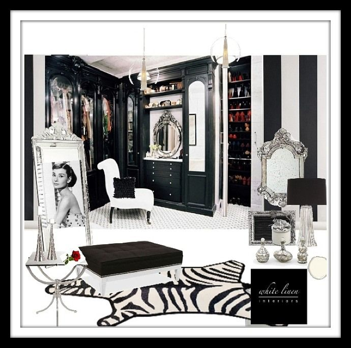 52 best images about dressing room ideas on pinterest - Black and white dressing room ...