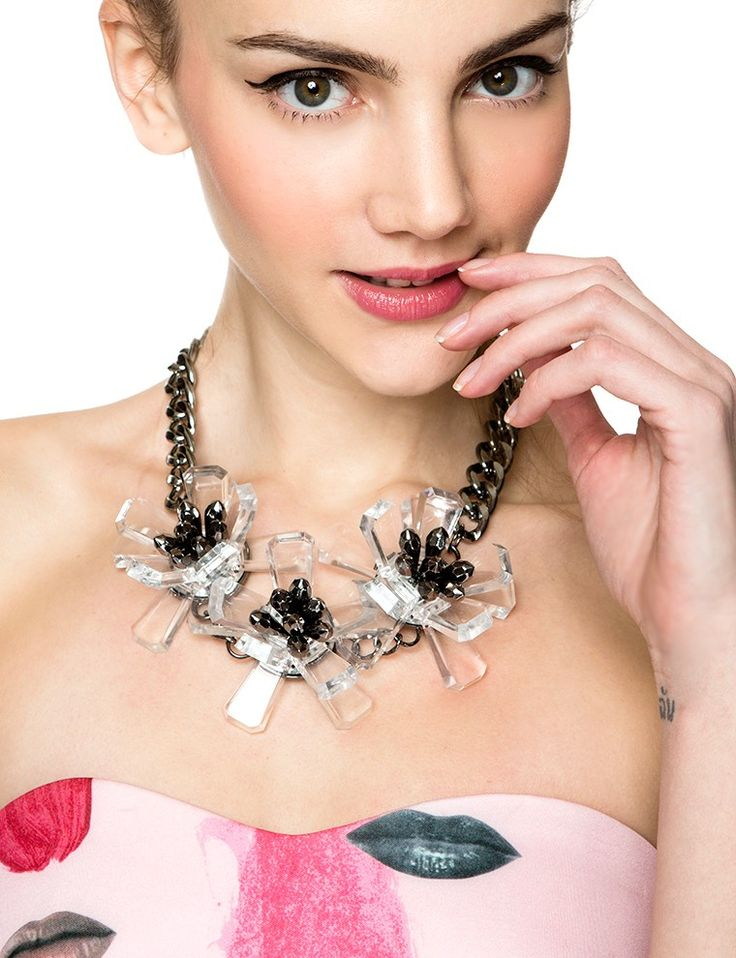 Floral Mania Statement Crystal Necklace $24.00