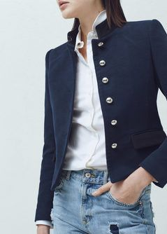 Buttoned cotton jacket