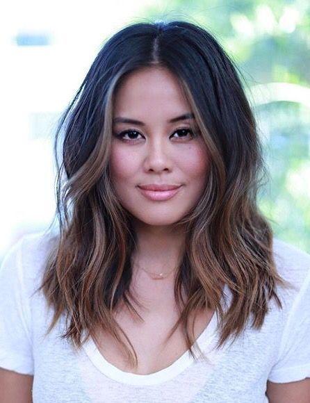 ♥️ Pinterest: DEBORAHPRAHA ♥️ Medium length hair with layers and highlights and waves hair style #hairstyles