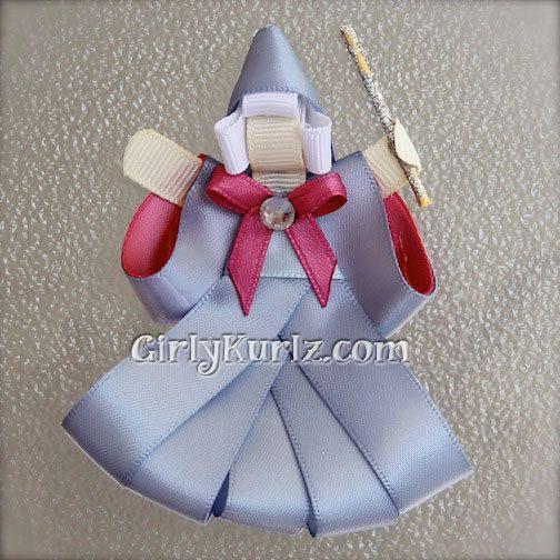 Fairy Godmother Ribbon Sculpture Hair Clip Princess Hair Clip Cinderella Hair Bow