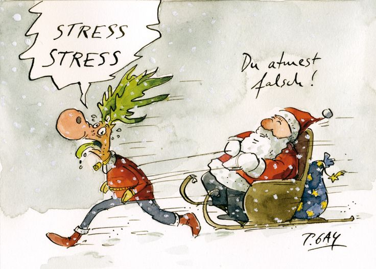 Peter Gaymann Postkarte Stress