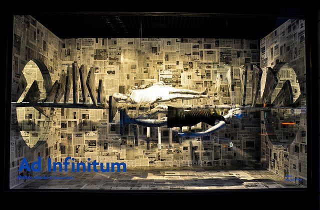 "Barneys New York window display ""Ad Infinitum"" by  by Shelton, Mindel & Associates, 2011"