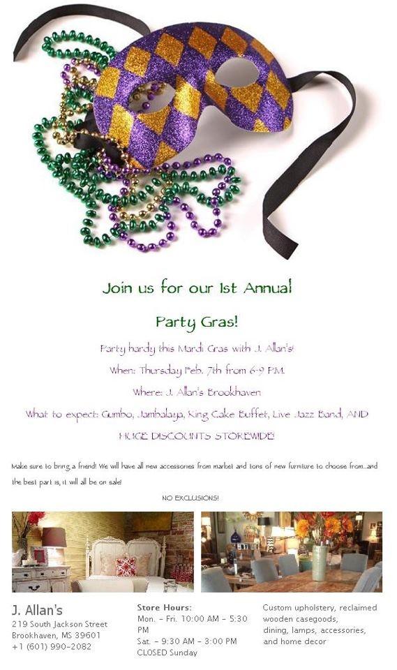 Party Gras Sale!