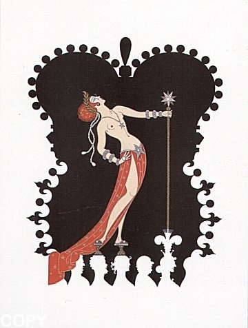 """""""Pride""""   by   Erte from  The Seven Deadly Sins Suite"""